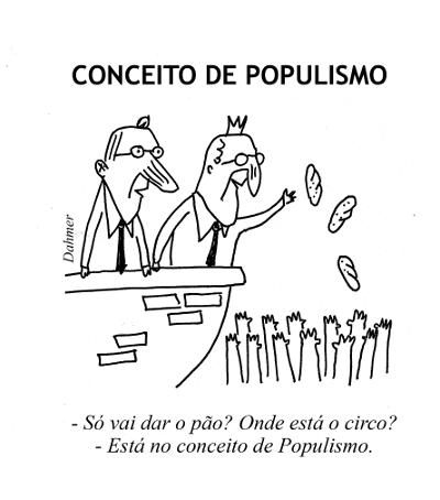 Resultado de imagem para populismo charge