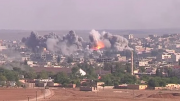 Coalition Airstrike on ISIL position in Kobane