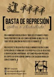 CARTAZ represion estudantil