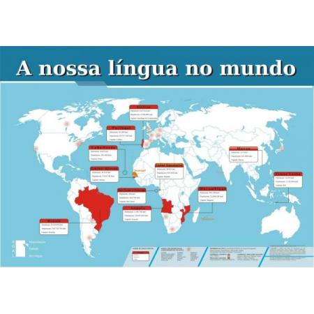 mapa a nossa lingua no mundo